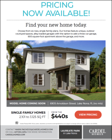 Pricing Now Available at Laureate Park in Lake Nona!