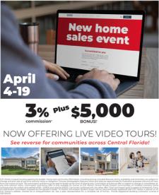 Red Tag Sales Event! 3% Commission + $5K Bonus!