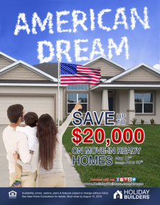 Save up to $20,000 on Move In Ready Homes