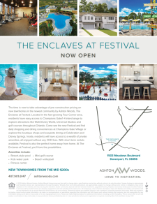The Enclaves at Festival - Now Open!