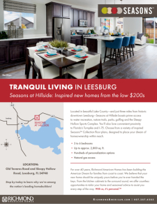 Tranquil Living in Leesburg- Now Open