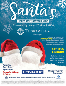 Tuskawilla Crossings Grand Opening + Helicopter Snowball Drop - Bring Your Clients!
