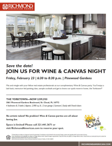 Wine & Canvas Party at Pinewood Gardens!