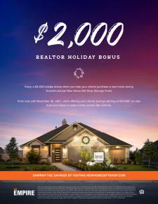 $2,000 holiday BTSA now through Nov 30