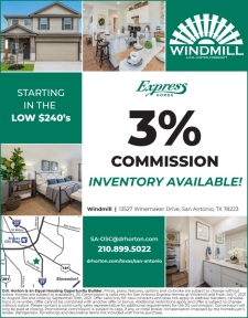 3% Commission at Windmill- I-37 & Southton Rd.
