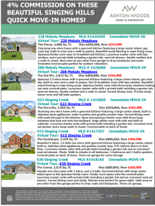 4% Commission on these Beautiful Singing Hills Quick Move-In Homes
