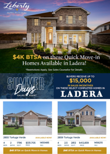 $4K BTSA on These Ladera Quick Move-In Homes!