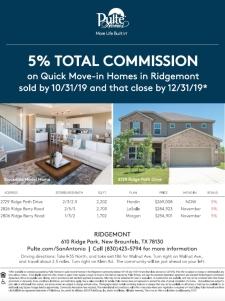5% Commission in Ridgemont!