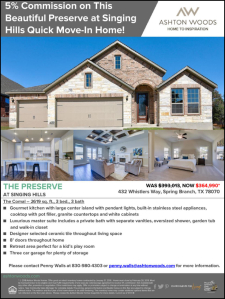 5% Commission on This Beautiful Preserve at Singing Hills Quick Move-In Home!