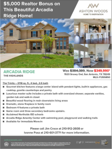 $5,000 Agent Bonus When You Sell This Home in Arcadia Ridge The Highlands