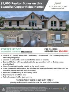 $5,000 Realtor Bonus in Copper Ridge!*