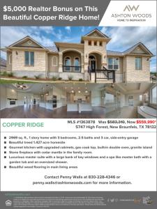 $5,000 Realtor Bonus on This Beautiful Copper Ridge Home!