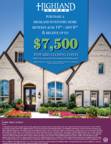 $7,500 in Closing Costs from Highland Homes