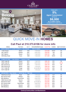 Act Now for up $6,000 toward Closing Costs on Move-In Ready Homes!