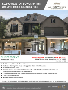 Agent Bonus! Earn a $2,500 Bonus on this Home at The Preserve at Singing Hills