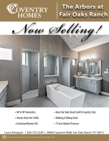 Arbors at Fair Oaks Ranch - Now Selling!