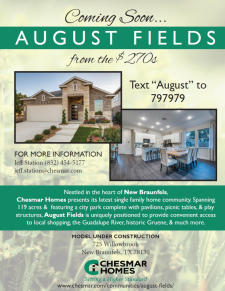 August Fields Coming Soon!