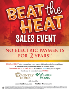 Beat the Heat Sales Event!