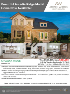Beautiful Arcadia Ridge Model Home Now Available