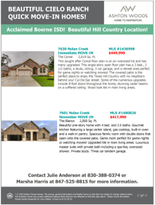Beautiful Cielo Ranch Quick Move-In Homes Available!