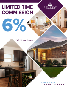 Beautiful Homes with up to 6% Agent Commission in Millican Grove!