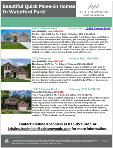 Beautiful Quick Move-In Homes in Waterford Park