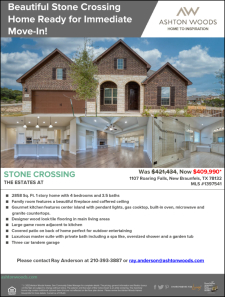 Beautiful Stone Crossing Home Ready for Move-In Now!