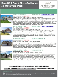 Check Out These Beautiful Quick Move-In Homes in Waterford Park!