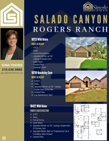 Check Out these Beautiful Homes in Salado Canyon at Rogers Ranch!