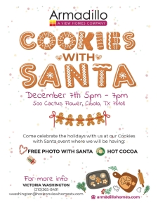 Come celebrate the holidays with us at our Cookies with Santa event!