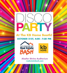 Disco Party at the KB Home Real Estate Bash Booth!