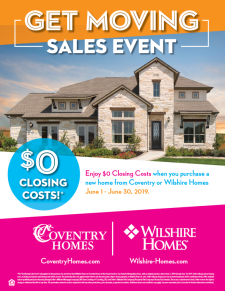 Enjoy $0 Closing Costs during Get Moving Sales Event!*