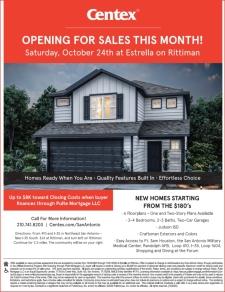Estrella on Rittiman is Opening for Sales Saturday!