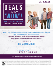 Extended! Up to 8% Commission and $9,500 in Closing Costs on Over 50 New Homes!