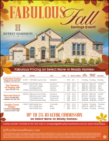 ​Fabulous Pricing​  and up to 5% Agent Commission on Select Move-In Ready Homes!