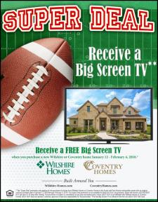 Free Big Screen TV During Super Deal Sales Event!
