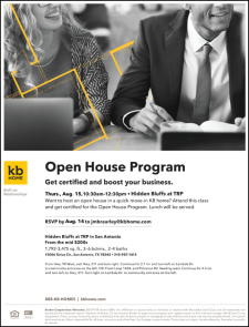Get Open House Certification & Enjoy Lunch in Hidden Bluffs at TRP!