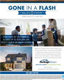 Gone in a Flash Sales Event Oct 18-20