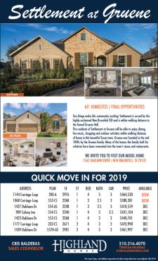 Gruene | Move-In Ready Highland Homes