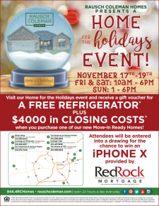 Home For Holidays Event Starting Today - $4k in Closing Costs and Much More!