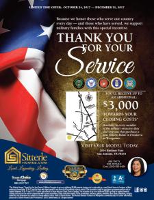 Honoring Our Veterans in Fronterra at Westpointe