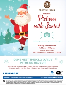 Join Us! Free Pictures With Santa at Stillwater Ranch