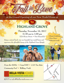 Join Us at Highland Grove Grand Opening - Enjoy a Catered Lunch and Win Prizes!