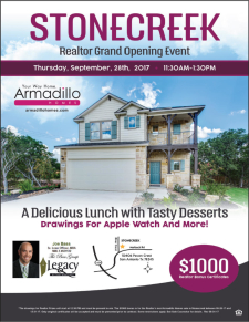 Join us for Lunch, Bonuses and Exciting Prizes at the New Model Grand Opening Event in Stonecreek!