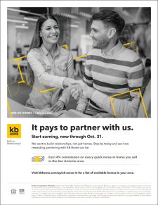 KB Home Paying 4% Commission Now through Oct. 31st.