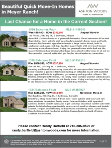 Last Chance for a Home in the Current Section of Meyer Ranch