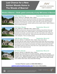 Last Chance for a New Ashton Woods Home in The Woods of Boerne!