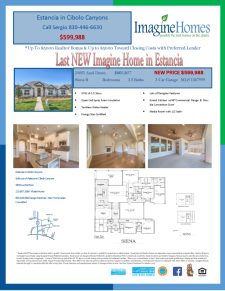 Last NEW Imagine Home in Estancia in Cibolo Canyons
