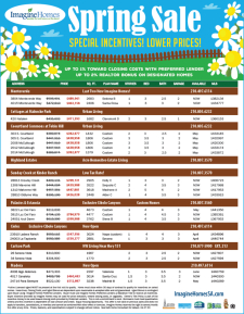 Lower Prices & Agent Bonuses on Select Homes!