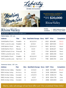 Making Memories Sales Event - Receive Up to $20,000!*